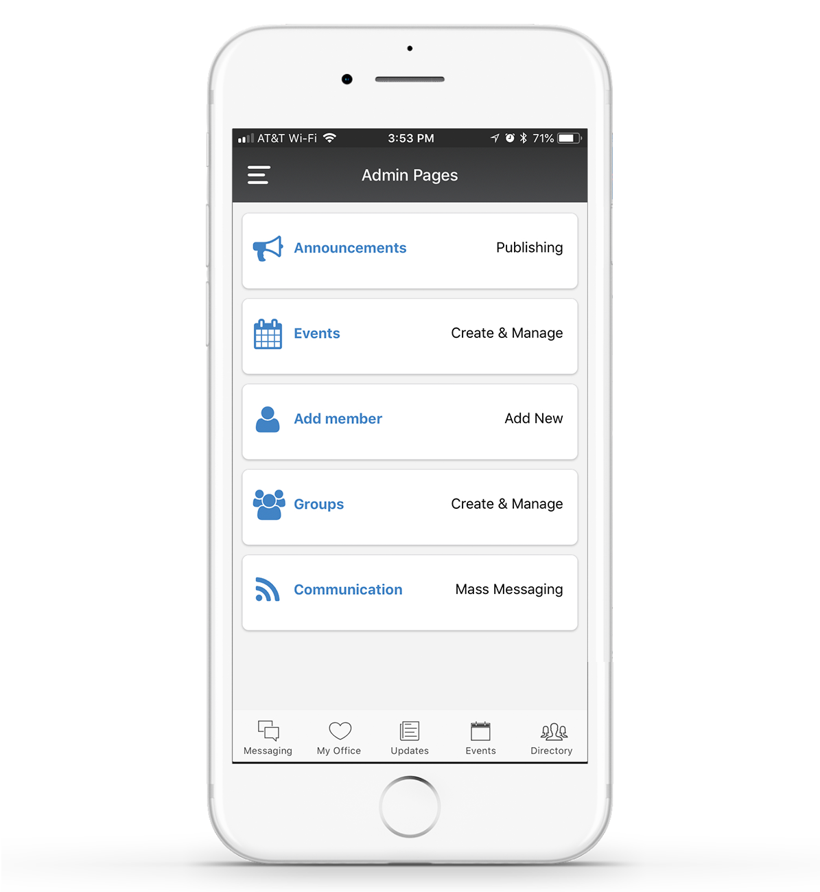 Membership Management Mobile Admin Controls